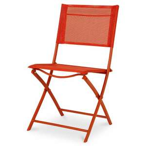 Saba Vermillion Plastic Bistro Chair for £3 @ B&Q