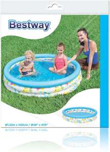 Bestway BW51009 48 x 10 Inch Ocean Life Kids Paddling Pool, Multi-Coloured . Free delivery sold by DX9 LTD for £5.65 delivered