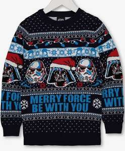 Christmas Star Wars Navy 'Merry Force' Jumper - 7 years from Argos for £4.50