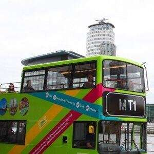 Hop-On and Hop-Off Manchester Bus Tour for a Family of Five £14.40 with code via Groupon