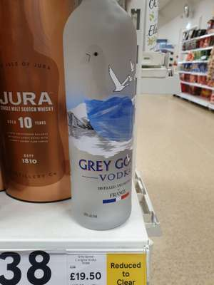 Grey Goose Vodka £19 for 70cl clearance price in Tesco, Horncastle