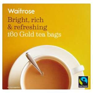 Waitrose & Partners 160 teabags now £2