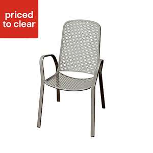 Dorsey Grey Garden steel frame armchair £6 delivered at B&Q