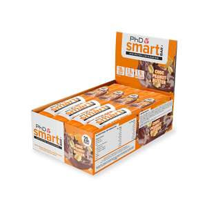 PhD Smart Bar All Flavors Pack of 12 Bars at Amazon for £11.62 s&s first orders / £15.49 prime add £4.49 (non-prime)