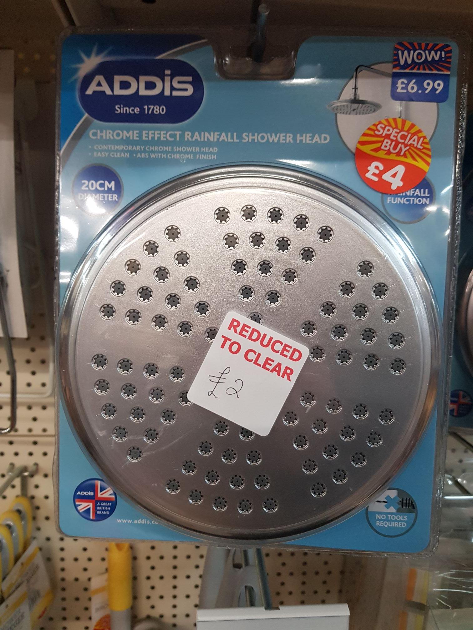 Addis 20cm shower head £2 @ B&M Flint (wales)