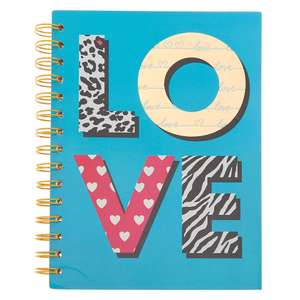 Love print mini notebook and pair of heart-shaped stud earrings for £5.50 click & collect @ Claire's Accessories