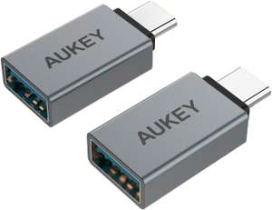 2 pack of AUKEY USB 3.0 to USB Type C adapters for £4.99 Prime (£5.98 non Prime) delivered (using code) @ MingXi EU fulfilled by Amazon