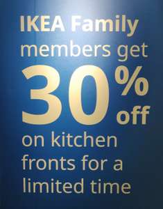 30% Off METOD Kitchen Fronts Promotion for IKEA Family Members