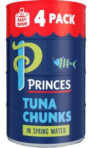 Princes Tuna Chunks In Spring Water 4 x 145g £3.50 @ Morrisons