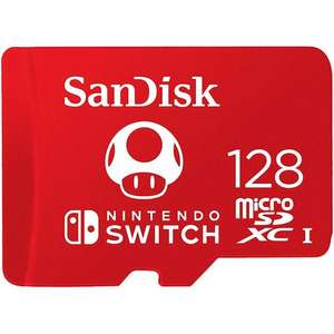 Sandisk 128gb Nintendo Switch Micro SD card £17.98 @ MyMemory