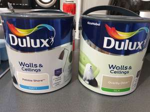 Dulux paint 2.5 litre - £3.75 Instore @ Wilko (Neath)