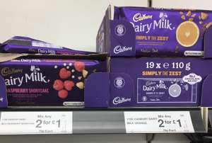 Dairy Milk - Simply The Zest (Orange) and Raspberry Shortcake 110g chocolate bars 2 for £1 @ FarmFoods