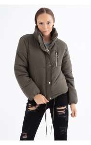 Khaki puffer coat free delivery over £20 with code @ Select