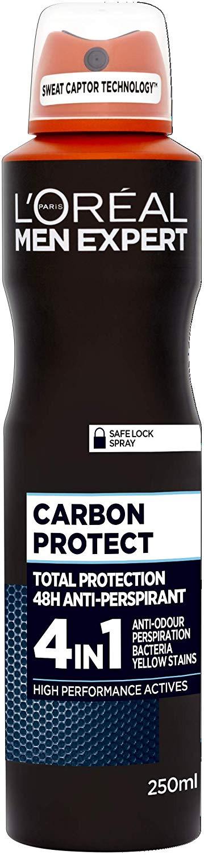 L'Oreal Men Expert Carbon Protect 48H Anti-Perspirant Deodorant 250ml £1.50 + £4.49 NP @ Amazon