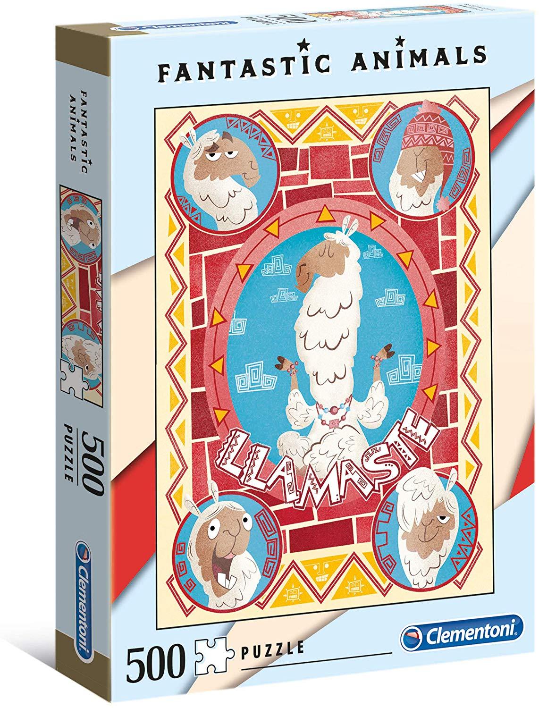 Clementoni 35069 35069-Fantastic Animals Puzzle--500 Pieces, Multi-Coloured £2.95 + £4.49 NP @ Amazon