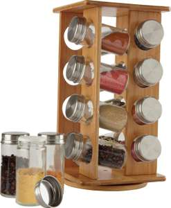 Bamboo Revolving Spice Rack with 16 Jars for £8 @ Argos