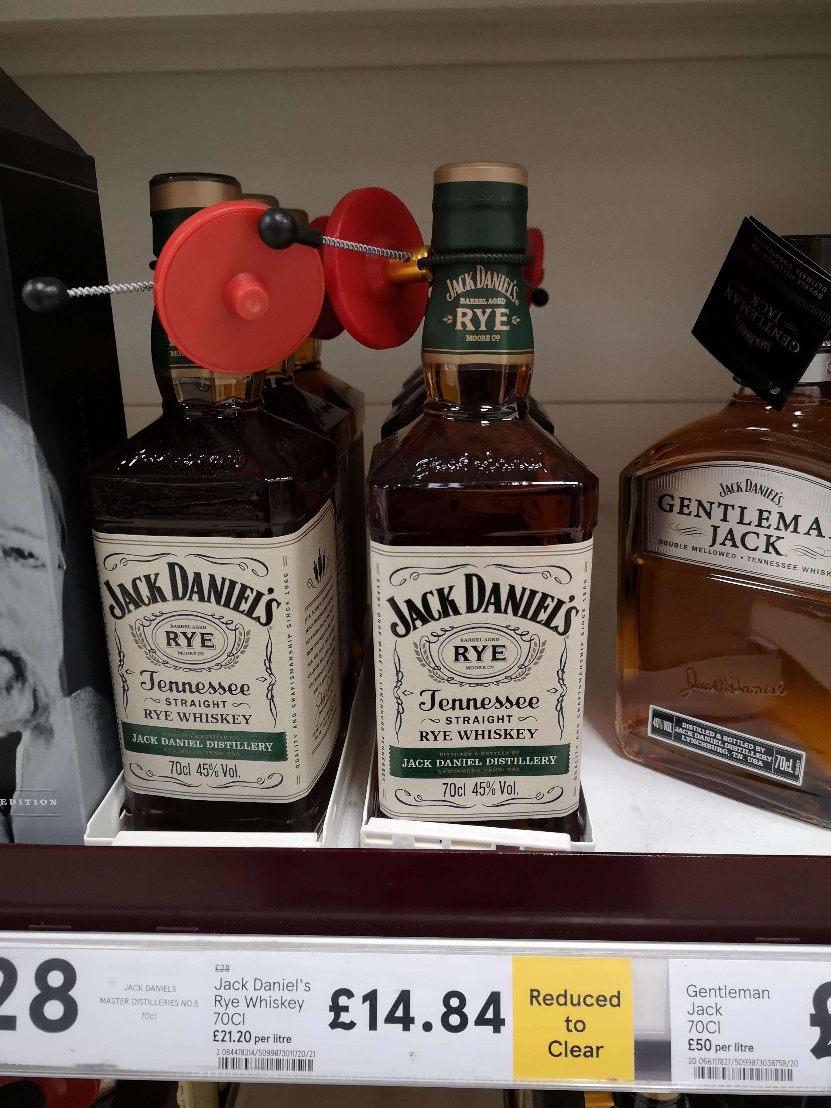 Jack Daniel's Tennessee Rye Straight Whisky, 70 CL. Instore @ Tesco, £14.84