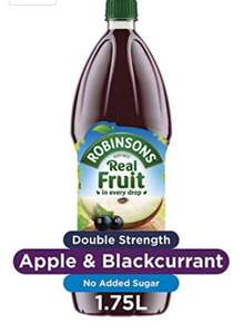Robinsons squash most flavours of double concentrate £1.50 1.75ltr @ Amazon Pantry (+£3.99 P&P)