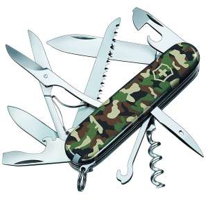 Victorinox Huntsman Camouflage Blister Pack Swiss Army Pocket Knife Tool. £25.88 @ Amazon