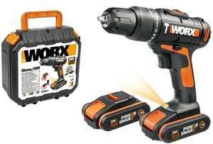 WORX WX366.5 18V (20V MAX) Cordless Combi Hammer Drill with x2 1.5Ah Batteries - £56.99 delivered with code @ Worx eBay