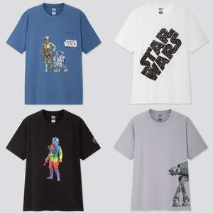 Men's Star Wars Forever UT: Graphic Print T-Shirts - 8 different designs just £5.90 each + Free click & collect @ Uniqlo