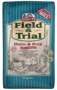 Buy One Get One Half Price on Selected Skinner's Field & Trial 15kg Dry Dog Food- Prices from £26.97 with Delivery @ Fetch