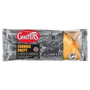 Ginsters Original Large Cornish Pasty 227gm / Cornish Pasties 2Pk 260gm / Peppered Steak Slice 170gm £1.00 @ Morrisons