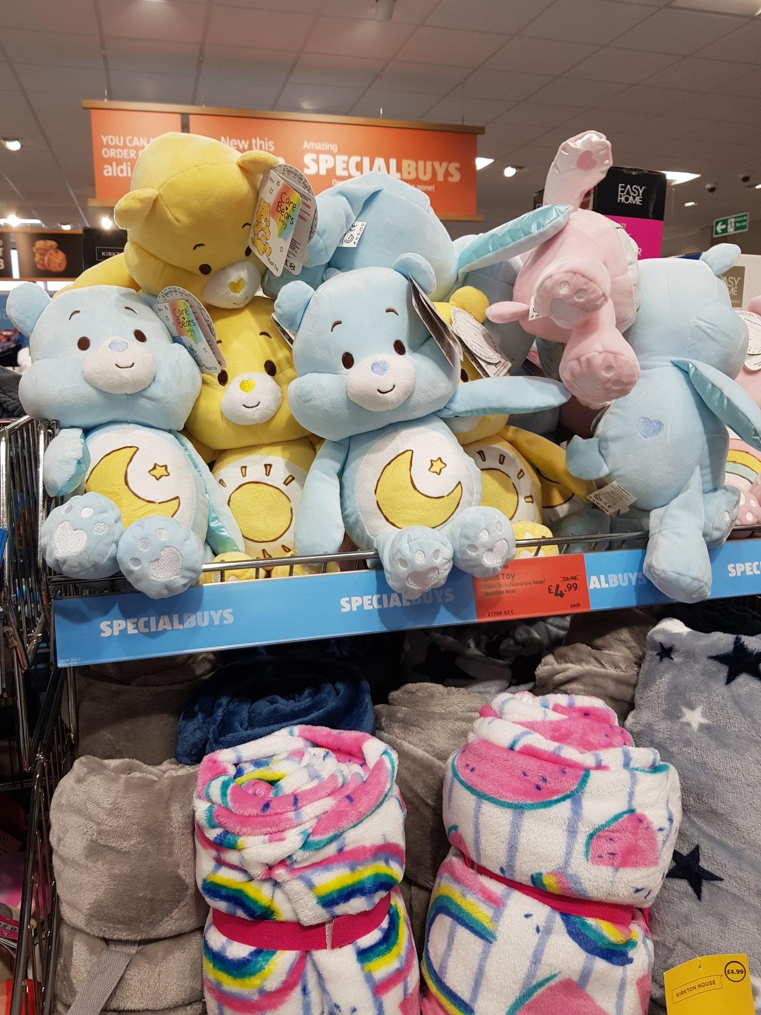 Care bear soft toys £4.99 @ Aldi Cardiff