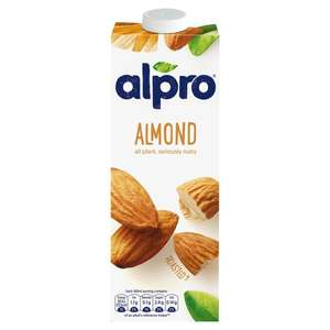 Alpro milk - £1 fresh and longlife @ Tesco, all varieties