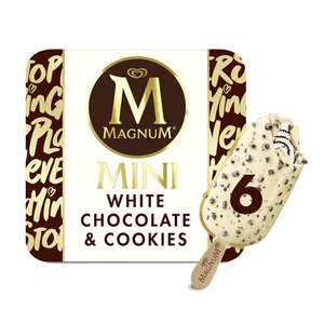 Magnum Mini White Chocolate & Cookies Ice Cream 6 x 55ml £1.50 @ Heron Foods - Kingston Upon Hull
