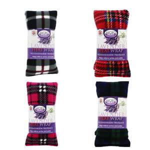 Tartan Wheat & Lavender Microwaveable Heat Wrap - Choice of 4 Colours - £2.60 with code @ The Works ( click and collect )