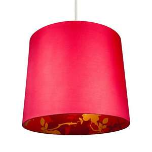 Colours Constance Red Linen effect Inner print Light shade (D)300mm £4 C&C at B&Q