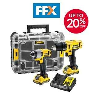 DeWalt DCK211D2T 10.8v XR Drill Driver Impact Driver 2 x 2.0ah Batteries Charger £114 (using code) @ FFX / Ebay