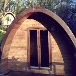 1 Or 2 Night Glamping Pod Stay for 2 With Optional Dinner & Early Check In at Mountain Edge Shropshire £23.30 With Code @ Groupon