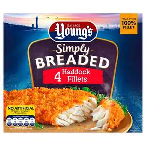 Young's 4 Simply Breaded Cod or Haddock Fillets 400g - £3 @ Morrisons