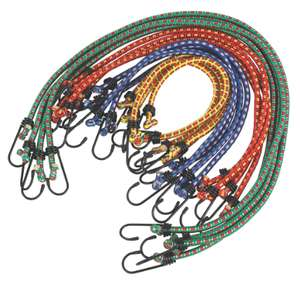 Bungee Cord Assortment x 8MM 16 Piece Set + 2 Year Guarantee - £4.99 + Free Click & Collect @ Screwfix
