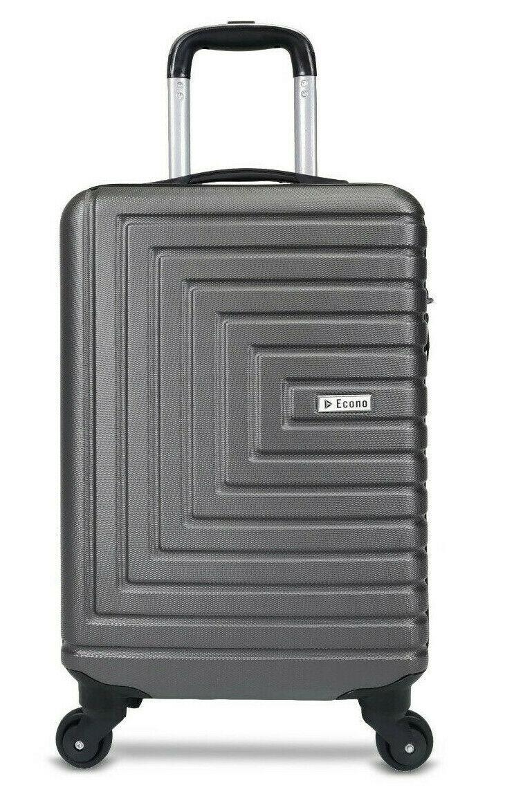 Econo® Lightweight 4 Wheel Suitcase Travel Cabin Size Hard Shell 55x35x20 cm with 5 year warranty - £18.99 @ eBay / Economatrix