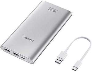 Samsung Original Type C Dual Port Battery Pack 10 Ah with Adaptative Fast Charging, Silver £18.62 + £4.49 NP @ Amazon
