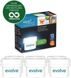 Aqua Optima Evolve 12 month pack, 6 x 60 day water filters £15.34 + £4.49 NP @ Amazon