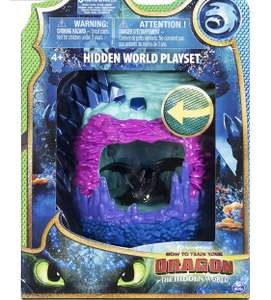 DreamWorks Dragons Hidden World Playset Lair with Collectible Toothless Figure - £3.25 Instore @ Sainsbury's (Tamworth)