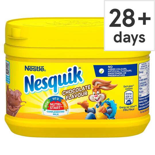 Nesquik Chocolate Milkshake Powder 300g Tub £1 @ Iceland