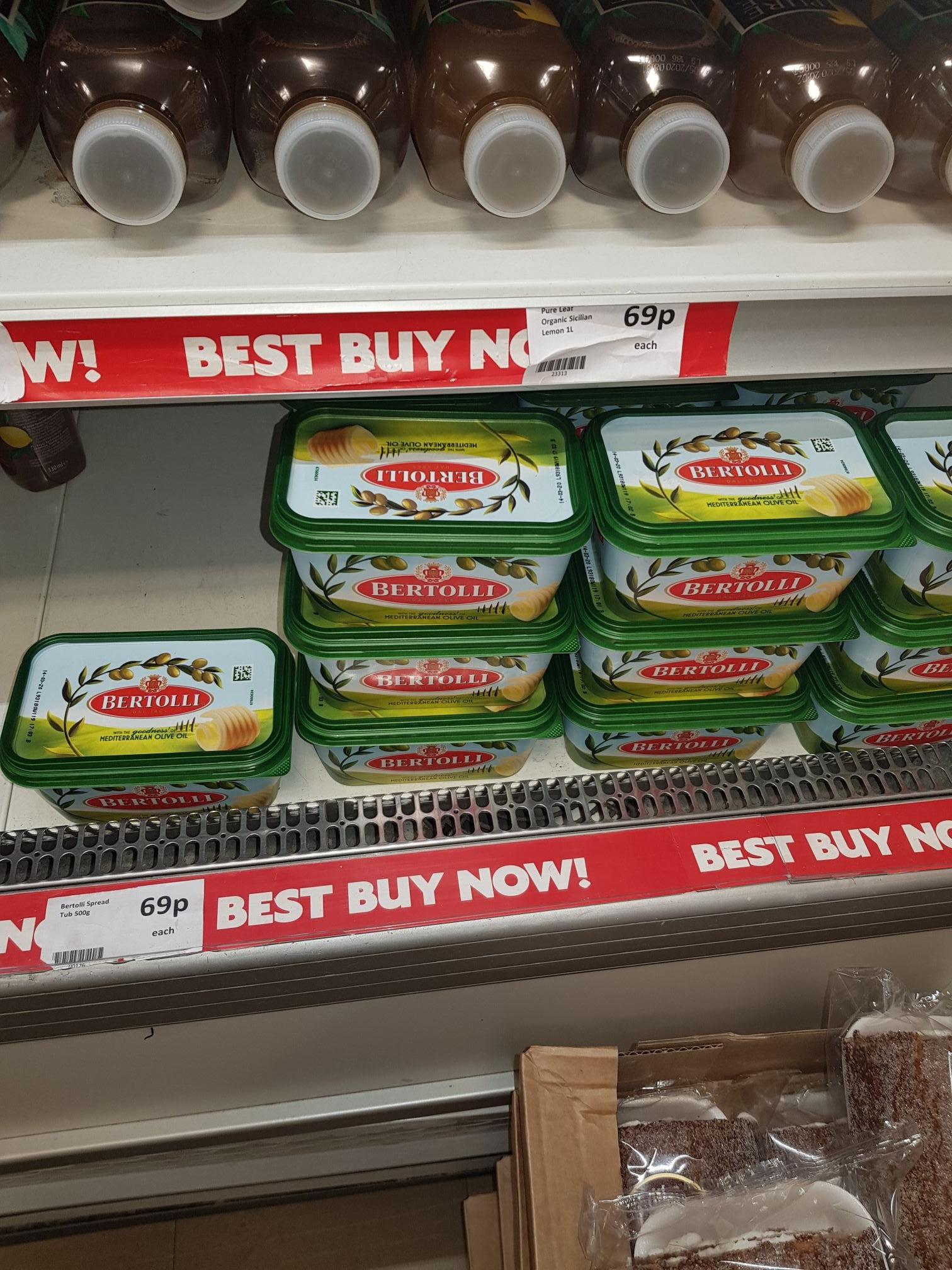 Olive oil spread 69p @ Heron Foods (Kirby Store)