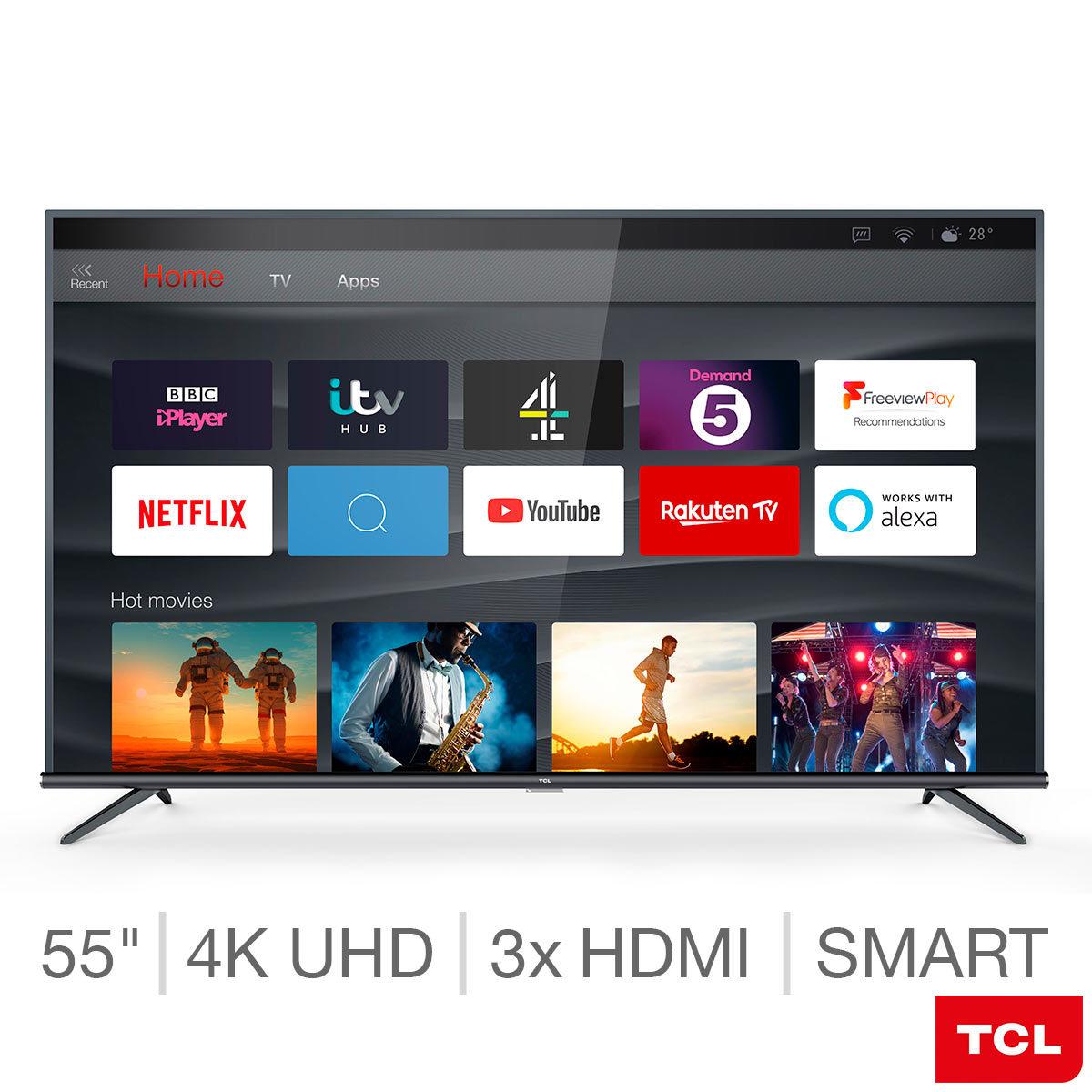 TCL 55EP648 55 Inch 4K Ultra HD Smart TV £269.89 @ Costco