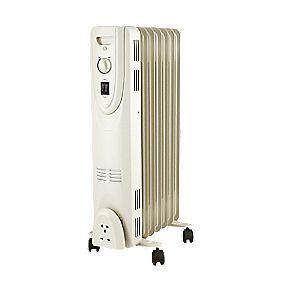 Freestanding Oil-filled Radiator HD907-7Q 1500w £19.99 @ Screwfix