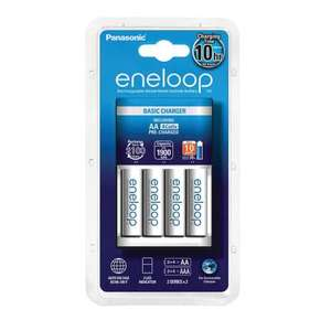 Battery Charger with 4x AA 1900 ENELOOP Rechargeable Batteries £14.99 @ 7dayShop