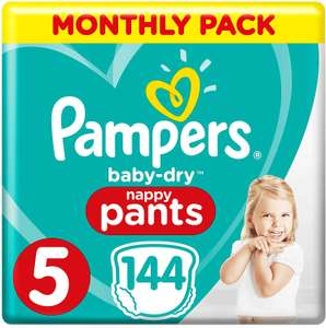 Pampers Baby-Dry Nappy Pants Size 5, 144 Nappy Pants £20.25 @ Amazon