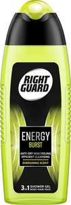 Right Guard 3-in-1 Shower Gel, Energy Burst, 250 ml, Pack of 6 £7 / £4.90 via Subscribe and Save @ Amazon (+£4.49 Non-prime)
