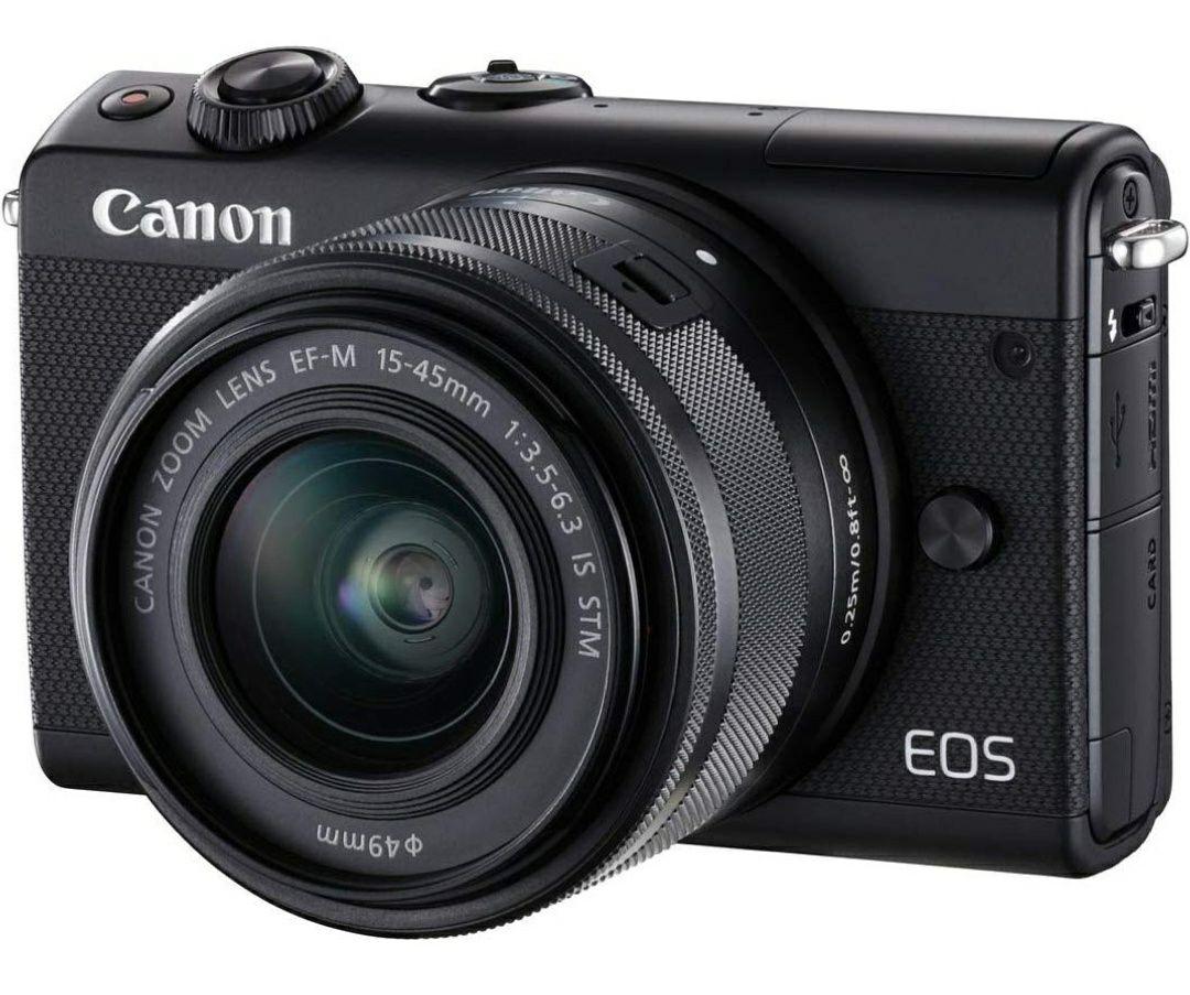 Canon EOS M100 Mirrorless 24.2 MP Camera with EF-M 15-45 mm f/3.5-6.3 Lens - Black €256.07 / £221.07 @ Amazon.DE