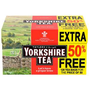 Yorkshire tea bags 120 pack for 75p @ Tesco