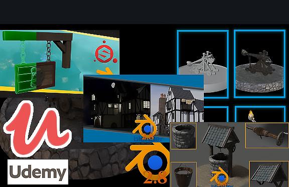 Blender 2.8 Model Texture Animation & Simulation Full Guide @Udemy